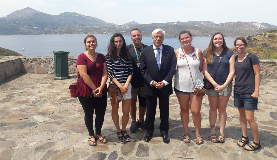 Hellenic Repuplic President Mr. Pavlopoulos- With Sfikas Constantinos and Duke University students.
